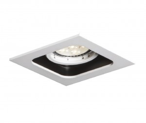 MISTIC LIGHTING QUAD QR111 MATT WHITE/BLACK MSTC-05355510 OPRAWA DOWNLIGHT PYTAJ O RABAT !